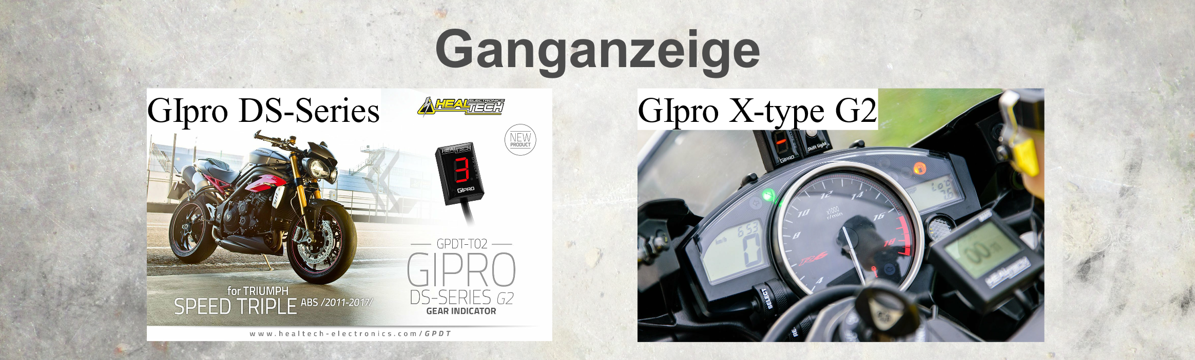 GIpro Ganganzeige