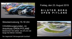 Drivers Club Experience 23.08.2019 / Open Pitlane / 15-18 Uhr