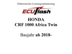 ECUflash Honda CRF1000 AFRICA TWIN  BJ 18-