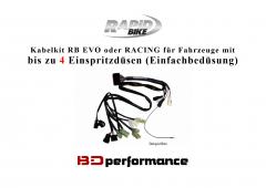 RB EVO oder RACING Kabelkit - bis 4 Einspritzduesen (Einfachbeduesung)