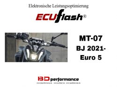 ECUflash Yamaha MT07 ab BJ21- (Euro 5)
