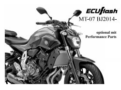 ECUflash Yamaha MT07 ab BJ14-