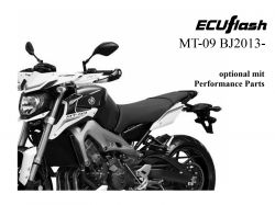 ECUflash Yamaha MT09 ab BJ13-