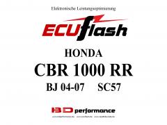 ECUflash Honda CBR1000RR BJ04-07 SC57
